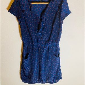Jessica Simpson Ellington Mini Dress Blue Size:L